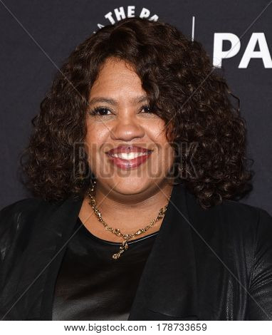 LOS ANGELES - MAR 19:  Chandra Wilson arrives for the PaleyFest 2017-Grey's Anatomy on March 19, 2017 in Hollywood, CA