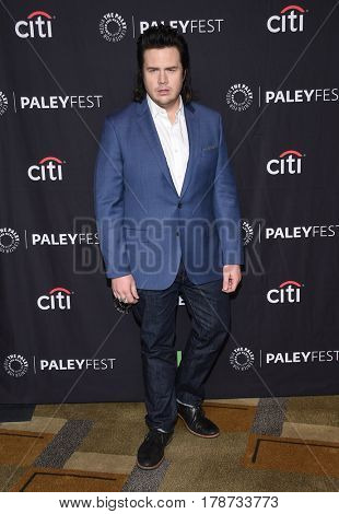 LOS ANGELES - MAR 17:  Josh McDermitt arrives for the PaleyFest 2017-The Walking Dead on March 17, 2017 in Hollywood, CA