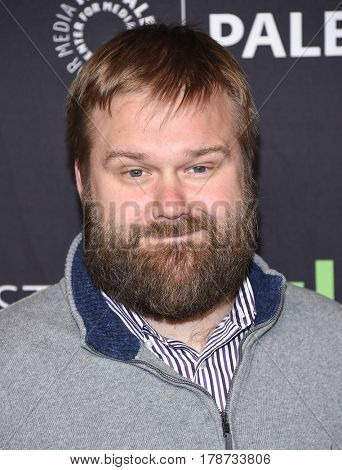 LOS ANGELES - MAR 17:  Robert Kirkman arrives for the PaleyFest 2017-The Walking Dead on March 17, 2017 in Hollywood, CA