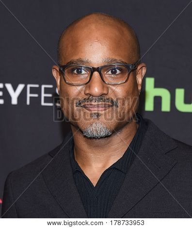 LOS ANGELES - MAR 17:  Seth Gilliam arrives for the PaleyFest 2017-The Walking Dead on March 17, 2017 in Hollywood, CA