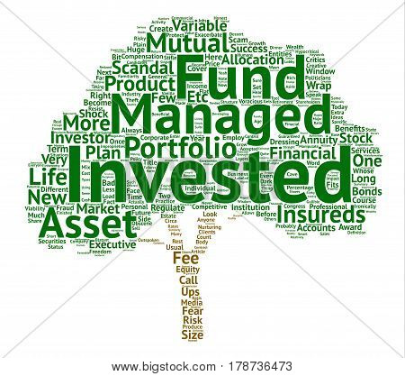 Investment Scandals Scams What s Next text background word cloud concept