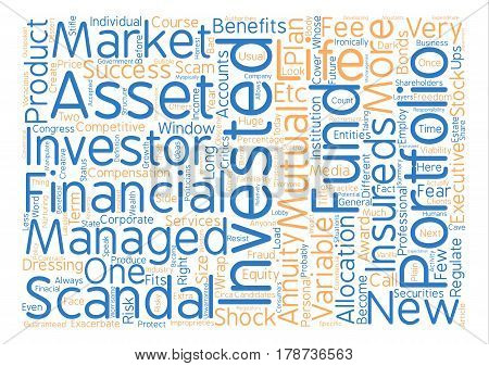 Investment Scandals Scams What s Next Word Cloud Concept Text Background