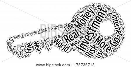 Investment War Will Make You A Millionaire text background word cloud concept