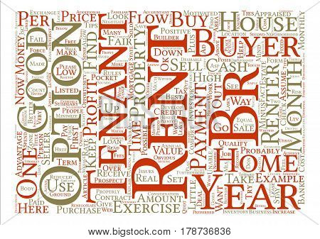 Investors How To Buy a House For Your Rent To Own Inventory text background word cloud concept