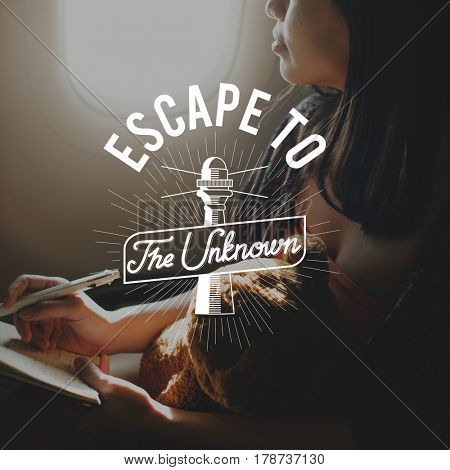 Wanderlust Escape Travel Explore Words Graphic