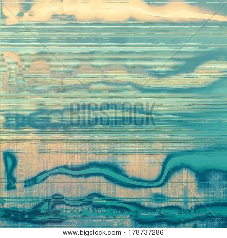 Decorated texture, antique vintage background with different color patterns: yellow (beige); blue; gray; cyan