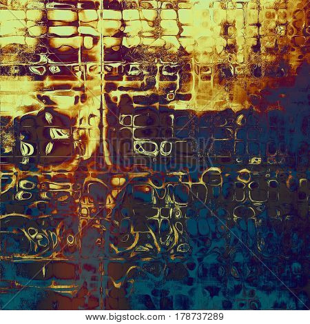 Art grungy texture, aged background with retro feeling. With different color patterns: yellow (beige); brown; blue; gray; red (orange); purple (violet)