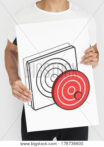 Target Dart Board Arrow Application Vector Graphic