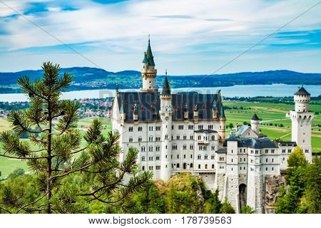 Neuschwanstein castle. One of the most famos and beautiful castle in the world.