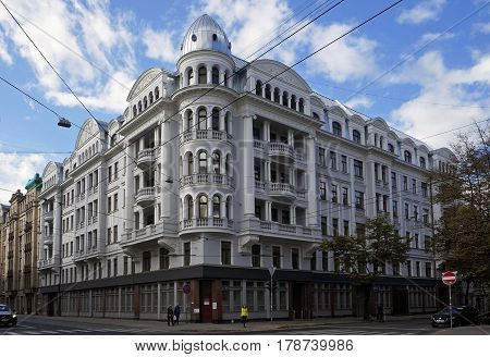 Former KGB building in Riga, eclecticism, early 20th century