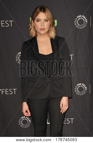 Ashley Benson at the 34th Annual PaleyFest Los Angeles presentation of 'Pretty Little Liars' held at the Dolby Theatre in Hollywood, USA on March 25, 2017.