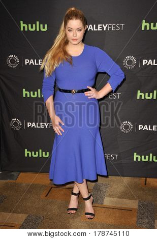Sasha Pieterse at the 34th Annual PaleyFest Los Angeles presentation of 'Pretty Little Liars' held at the Dolby Theatre in Hollywood, USA on March 25, 2017.