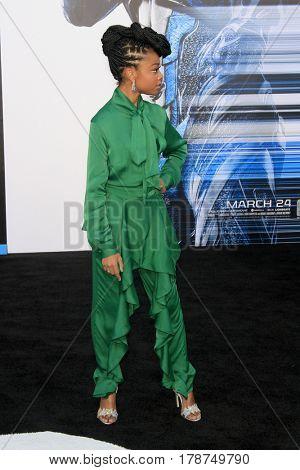 LOS ANGELES - MAR 22:  Skai Jackson at the Lionsgate's