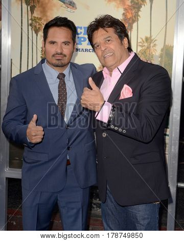LOS ANGELES - MAR 20:  Michael Pena, Eric Estrada at the