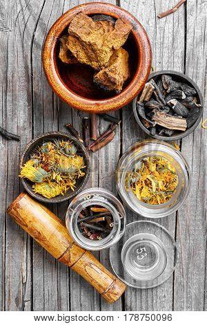 Set Of Healing Herbs