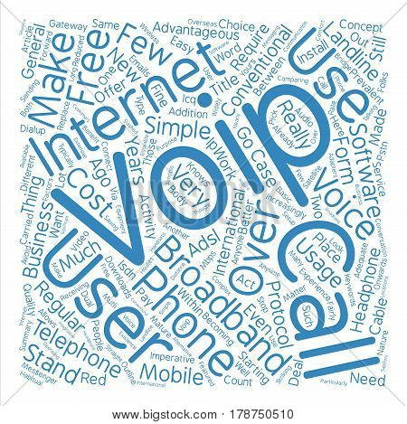 Is VoIP An Easy Choice For Your Calls text background word cloud concept