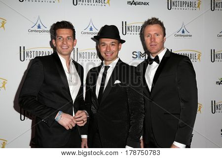 LOS ANGELES - MAR 25:  The Tenors, Clifton Murray, Victor Micallef, Fraser Walters at the Unstoppable Foundation Gala at the Beverly Hilton Hotel on March 25, 2017 in Beverly Hills, CA
