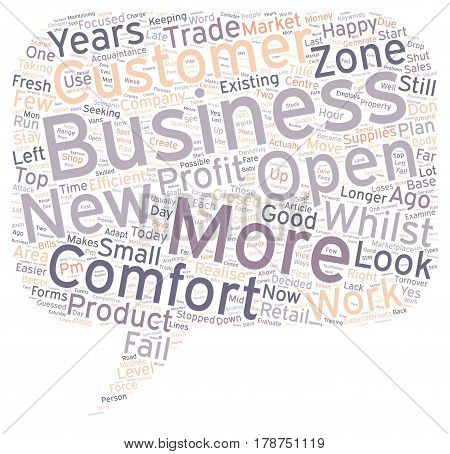 Is Your Business In The Comfort Zone text background wordcloud concept