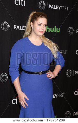LOS ANGELES - MAR 25:  Sasha Pieterse at the 34th Annual PaleyFest Los Angeles -