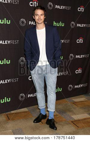LOS ANGELES - MAR 25:  Tyler Blackburn at the 34th Annual PaleyFest Los Angeles -