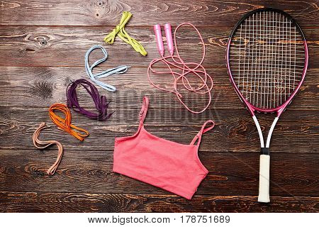 Badminton racket and skipping rope. Disclose your motivation.