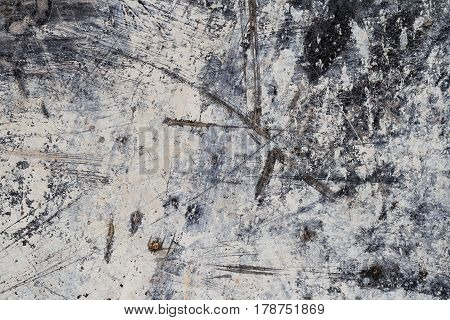 Grunge White Abstract Mineral Texture on Dark Background IV