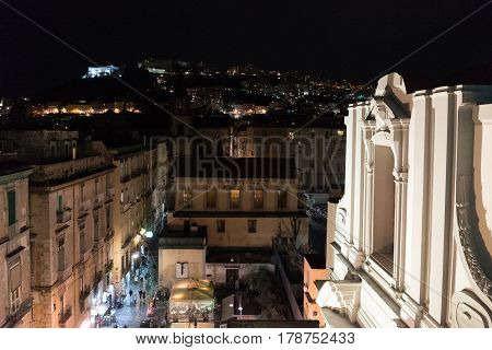 Nocturne Panorama Of Naples