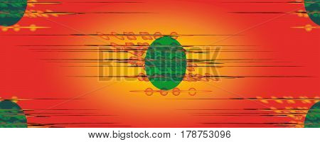 Seamless diffusion pattern on red yellow backgroundю For design wallpaper cover invitation fabric. Vector background.