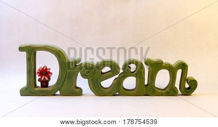 Sign made of Green Wood that says