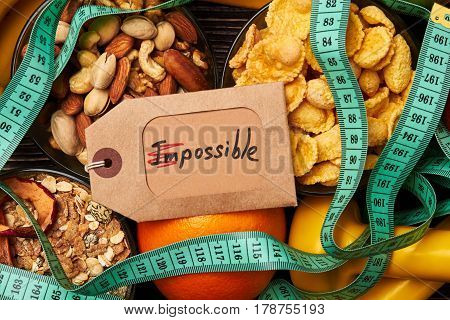 Nuts, cornflakes and measuring tape. Love makes the impossible possible.