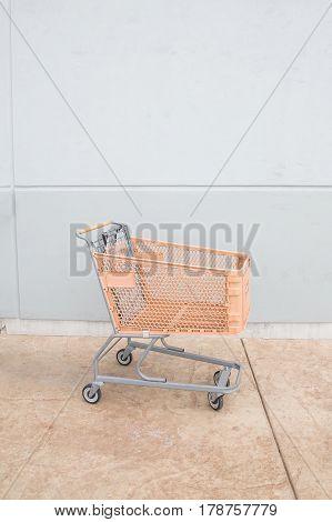 Shopping Cart With Orange Basket