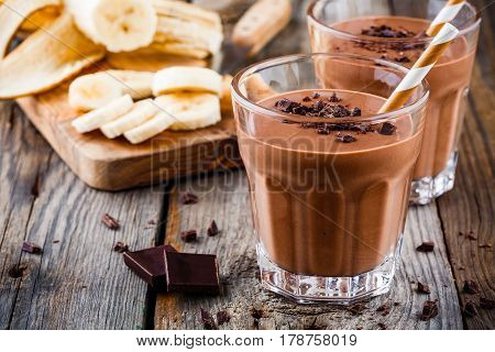 Chocolate Smoothie With Banana