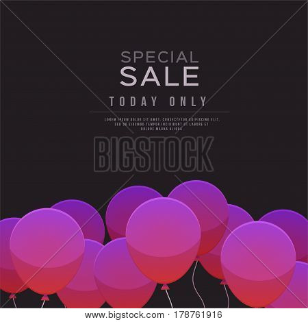 Balloons, Special sale Design Vector illustration template