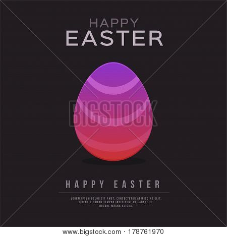 Happy Easter and egg Design. Vector illustration template