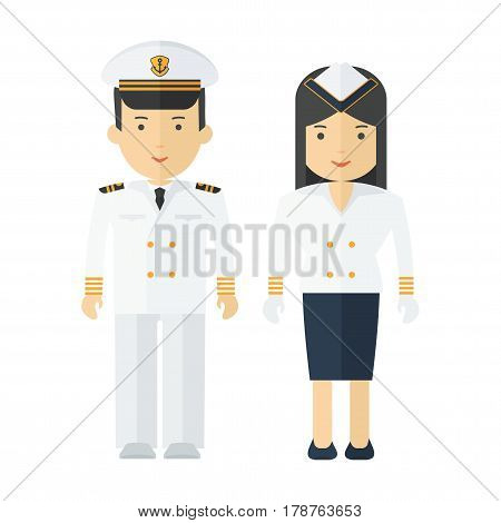 Professions Captain And Stewardess