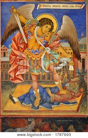 Archangel Michael Fresco