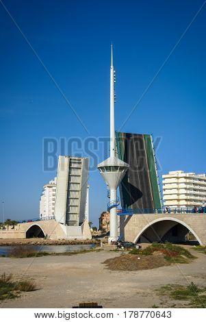 Drawbridge At La Manga, Valencia Y Murcia, Spain