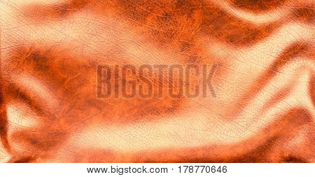 Brown leather texture background with corrugated surface with light reflected areas and soft shadows effect