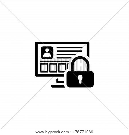 Personal Data Protection Icon. Flat Design. Business Concept Isolated Illustration.