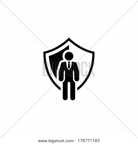 Security Agency Icon. Flat Design. Business Concept Isolated Illustration.