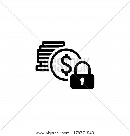 Secured Loan Icon. Flat Design. Business Concept Isolated Illustration.