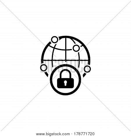 Security Point Icon. Flat Design. Business Concept Isolated Illustration.