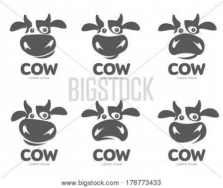 cow logo template vector photo free trial bigstock