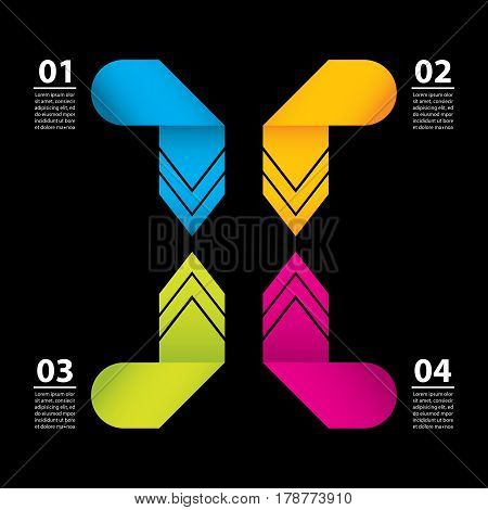 Business Data Concept.modern Infographics Illustration.creative Vector Origami Design, Eps10.