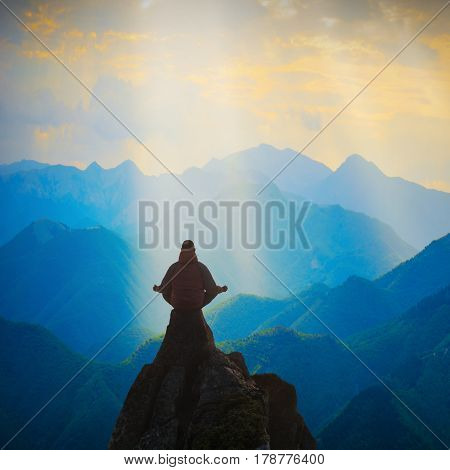Meditation In A High Mountain Valley