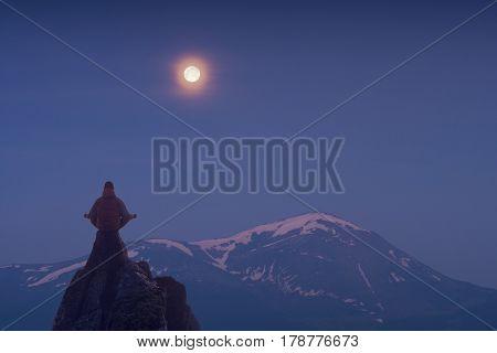 Meditation Light Of Full Moon