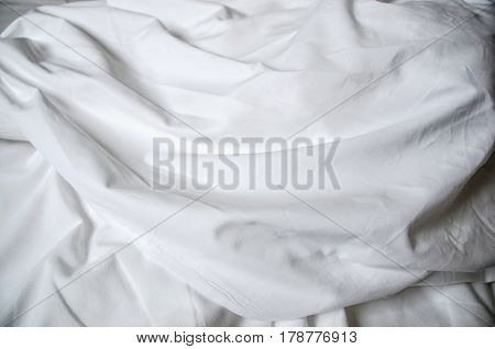 Creased White Fabric
