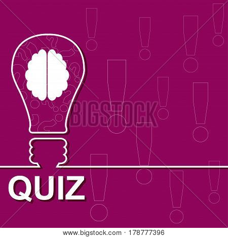Idea lamp with electric plug background. Quiz with question marks sign icon. Questions and answers game symbol. Vector illustration.