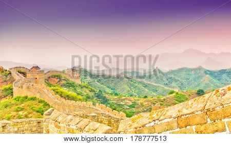 View on Great wall by Jinshaling in CHINA