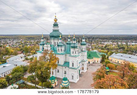 Chernihiv, Ukraine - October 19, 2016: St. Catherine's Church, Chernihiv Ukraine Europe European cultural monuments.Early 18th century. Chernihiv is one of oldest cities of Kievan Rus